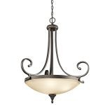 "Monroe Collection 26"" 3-Light Olde Bronze Pendant 43164OZ"