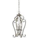 "Monroe Collection 15"" 4-Light Brushed Nickel Chandelier 43165NI"