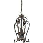 "Monroe Collection 15"" 4-Light Olde Bronze Chandelier 43165OZ"