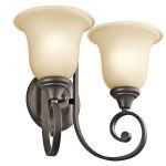 "Monroe Collection 14"" 2-Light Olde Bronze Wall Sconce 43171OZ"