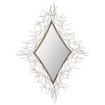 "Andrea Collection 46"" Painted Metal Mirror 78172"