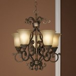 "Larissa Collection 5-Light 19"" Tannery Bronze Mini Chandelier with Citrine Glass 2303TZG"