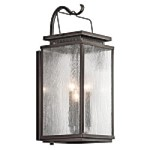 Kichler Three Light Olde Bronze Wall Lantern - 49386OZ