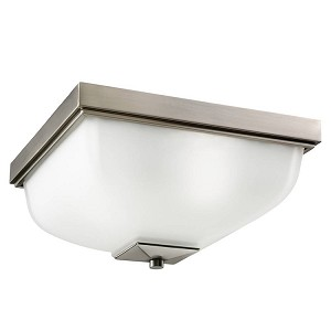"Benton Collection 2-Light 13"" Antique Pewter Outdoor Ceiling Flush Mount 9817AP"