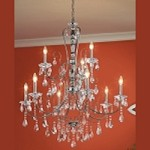 "Jules Collection 36"" 9-Light Chrome Chandelier 43123CH"