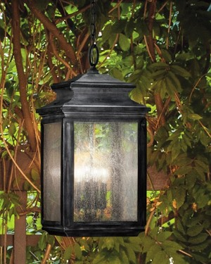 Kichler Four Light Weathered Zinc Hanging Lantern - 49505WZC