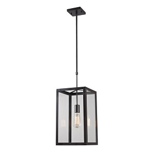 "Parameters Collection 1-Light 10"" Oiled Bronze Pendant with Clear Glass 63022-1"