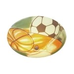 "Kidshine Collection 3-Light 17"" Sports Semi-Flush Mount 206-SP"