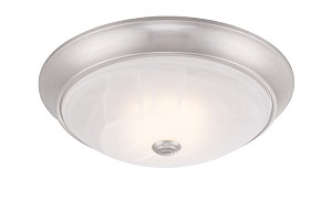 "Designers Fountain LED Satin Platinum Alabaster Glass Bowl 11"" Flush Mount - LED1001-35"