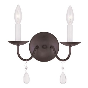 "Mercer Collection 2-Light 12"" Bronze Wall Sconce 4842-07"