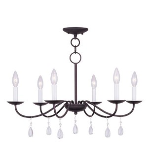 "Mercer Collection 6-Light 26"" Bronze Chandelier 4846-07"
