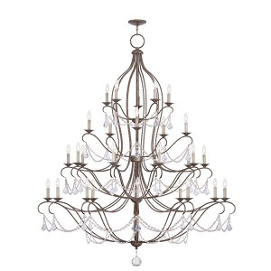 "Chesterfield Collection 10+10+5+5-Light 60"" Venetian Golden Bronze Chandelier 6459-71"