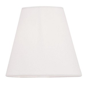 "Mendham Collection 5"" Chandelier Shades with Hand-Made Off-White Linen Hardback Shade S341"