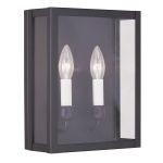 "Milford Collection 2-Light 9"" Bronze Wall Sconce with Clear Glass 4030-07"