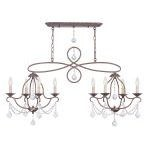 "Chesterfield Collection 4+4-Light 18"" Venetian Golden Bronze Island/Chandelier 6437-71"