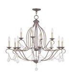 "Chesterfield Collection 8+4-Light 34"" Venetian Golden Bronze Chandelier 6438-71"