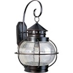 "Portsmouth Collection 1-Light 22"" Oil Rubbed Bronze Outdoor Wall Lantern with Seedy Glass 30504CDOI"