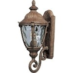 "Morrow Bay 1-Light 20"" Earth Tone Outdoor Wall Light with Water Glass 3184WGET"