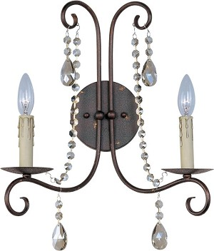 "Adriana Collection 2-Light 15"" Urban Rustic Wall Sconce 22192UR"