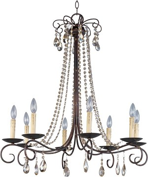 "Adriana Collection 8-Light 32"" Urban Rustic Single-Tier Chandelier 22197UR"