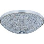 "Glimmer Collection 4-Light 15"" Plated Silver Flush Mount and Beveled Crystal Glass 39871BCPS"