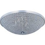 "Glimmer Collection 6-Light 19"" Plated Silver Flush Mount and Beveled Crystal Glass 39872BCPS"