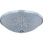 "Glimmer Collection 9-Light 22"" Plated Silver Flush Mount and Beveled Crystal Glass 39873BCPS"