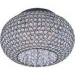"Glimmer Collection 5-Light 15"" Bronze Flush Mount and Beveled Crystal Glass 39875BCBZ"