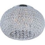 "Glimmer Collection 5-Light 15"" Plated Silver Flush Mount and Beveled Crystal Glass 39875BCPS"