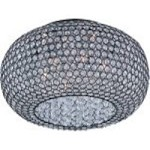 "Glimmer Collection 6-Light 18"" Bronze Flush Mount and Beveled Crystal Glass 39876BCBZ"