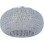 "Glimmer Collection 6-Light 18"" Plated Silver Flush Mount and Beveled Crystal Glass 39876BCPS"