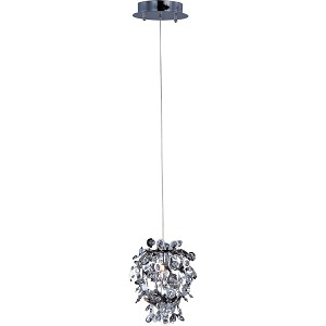 "Comet Collection 1-Light 9"" Polished Chrome Mini Pendant with Beveled Crystal 94200BCPC"