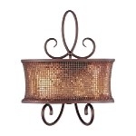 "Alexander Collection 2-Light 19"" Bronze Wall Sconce with Shimmer Shade 24168SBUB"