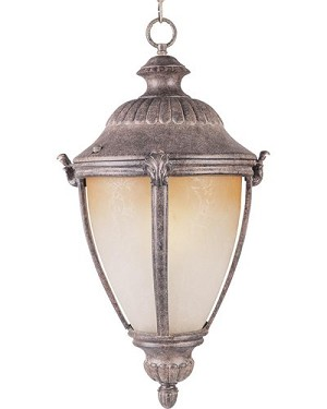 "Morrow Bay Energy Star 1-Light 20"" Earth Tone Outdoor Hanging Lantern with Latte Glass 85187LTET"
