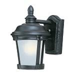 "Dover Energy Efficient Collection 1-Light 9"" Bronze Outdoor Wall Lantern 86096FSBZ"