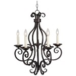 "Manor Collection 5-Light 28"" Oil Rubbed Bronze Chandelier 12215OI"
