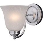 "Basix Collection 1-Light 6"" Polished Chrome Wall Sconce with Ice Glass 2120ICPC"