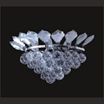 "French Branch of Light 3 Light 15"" Chrome Wall Sconce Dressed with European or Swarovski Crystals SKU# 10648"