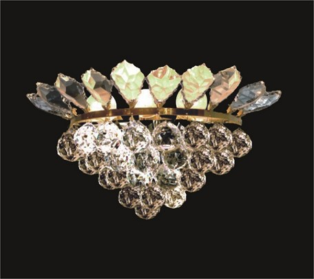 "French Branch of Light 3-Light 15"" Gold Wall Sconce Dressed with European or Swarovski Crystals SKU# 10653"