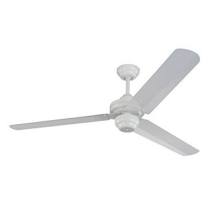 "Studio Collection White 54"" Ceiling Fan with White Blades 3SU54WH"