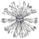 "Lunasphere Design 40-Light Chrome 24"" Hanging Pendant with Clear Crystals SKU# 10796"