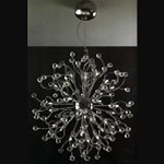 "Lunasphere Design 18-Light 21"" Polished Chrome Crystal Hanging Pendant SKU# 11168"