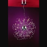 "Medusa Design 25-Light 26"" Polished Chrome Crystal Hanging Pendant SKU* 10799"