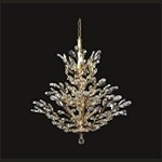 "Branch of Light Design 13-Light 32"" Gold Chandelier with Clear European or Swarovski Crystals SKU# 10635"