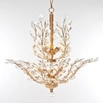 "Branch of Light Design 10-Light 30"" Gold Chandelier with Clear European or Swarovski Crystal SKU*10688"