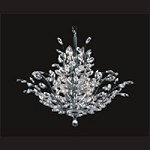 "Branch of Light Design 13-Light 32"" Chrome Chandelier with Clear European or Swarovski Crystals SKU# 10634"