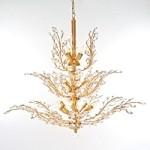 "Branch of Light Design 18-Light 40"" Gold Chandelier with European or Swarovski Crystals SKU* 10600"