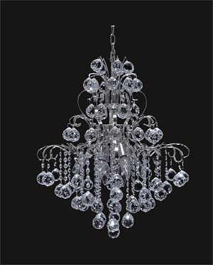 "Contour Design 8-Light 20"" Gold or Chrome Chandelier with European or Swarovski Spectra Crystals SKU# 05261"
