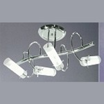 Modern Style - 4 Light Semi Flush Swirled Arms in Chrome Finish - SKU* 2111002