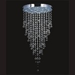 "Drops of Rain Design 14-Light 60"" Murano Crystal Chandelier SKU# 10829"